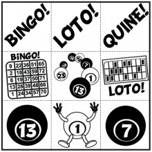 Jeu de 9 symboles Bingo