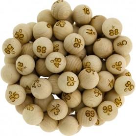 90 boules en bois Ø 22 mm