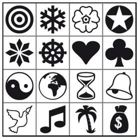 Jeu de 16 symboles