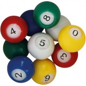 10 boules multicolores Ø 22 mm