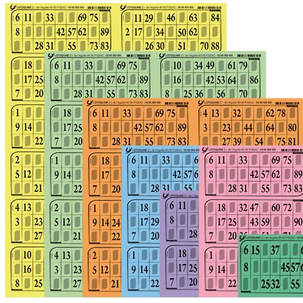 Carton loto Souple - 500 grilles en plaques - Tradition