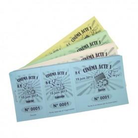 Carnet 100 billets d'entrée - noir
