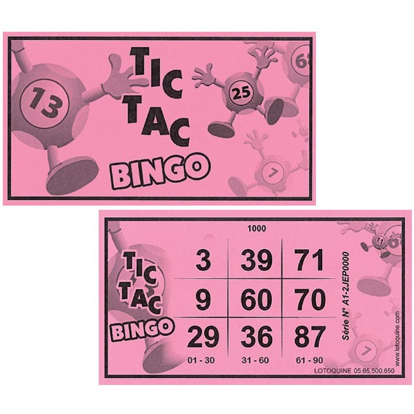 500 tickets Tic-Tac bingo