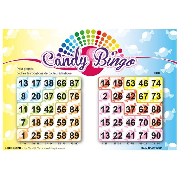 252 feuillets Candy Bingo