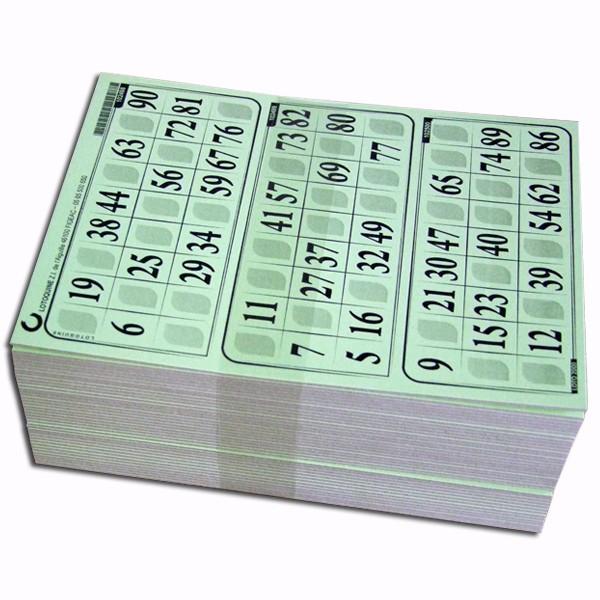Carton loto très épais - 500 grilles en plaques - Tradition