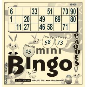 252 feuilles Mini-Bingo Pâques