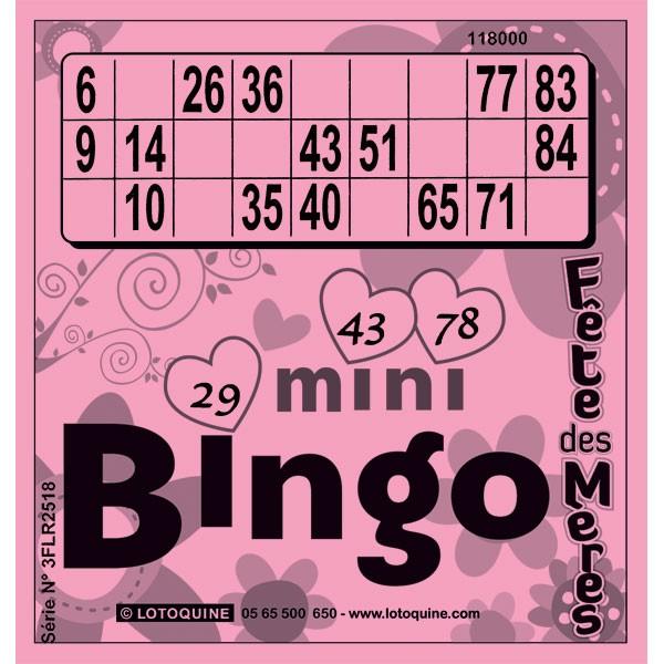 252 feuilles Mini-Bingo Fête des mères