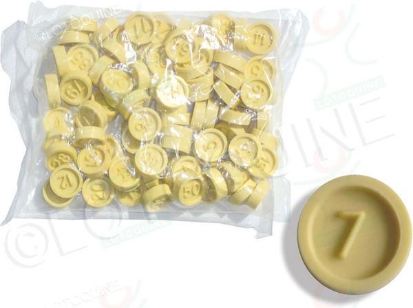 90 jetons de loto en PVC