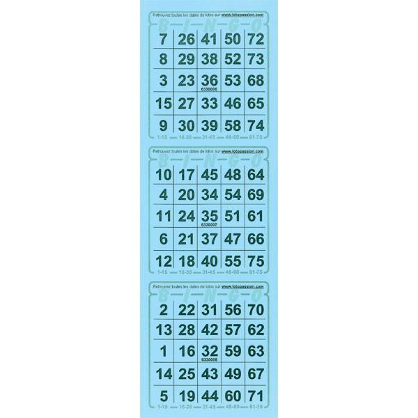 336 feuillets Bingo américain par 3