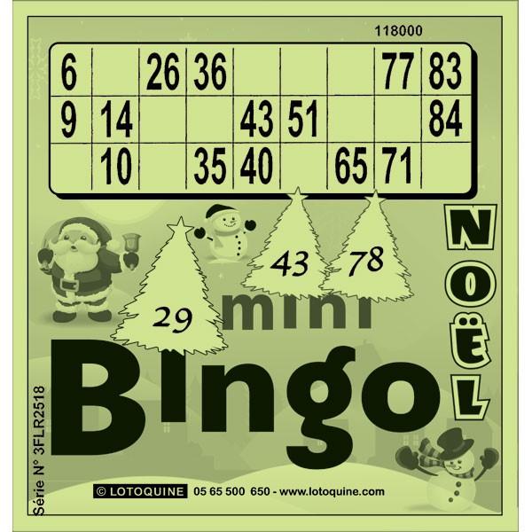 252 feuilles Mini-Bingo Noël