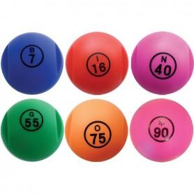 6 boules loto numérotées +100 pions