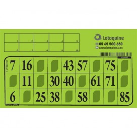 Carton loto Feuille à tamponner - 500 exemplaires
