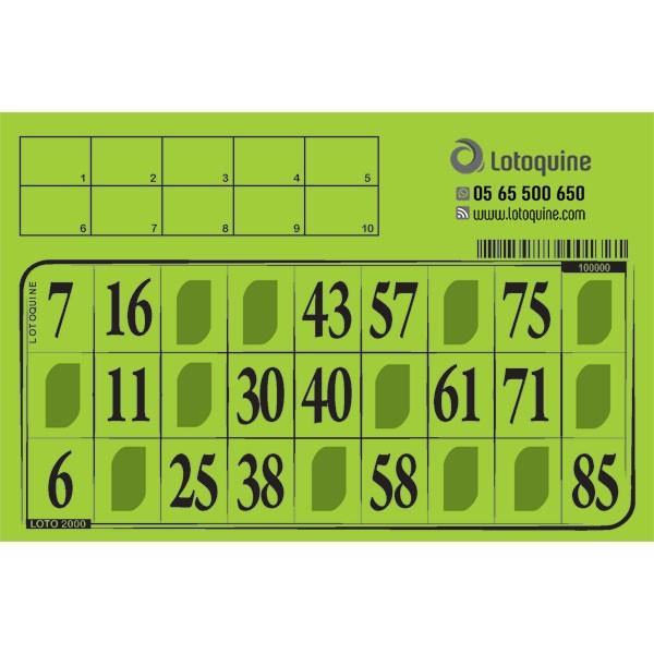 Carton loto Souple à tamponner - 500 exemplaires