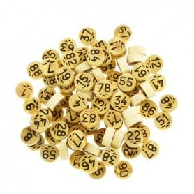 90 jetons de loto en bois supérieur