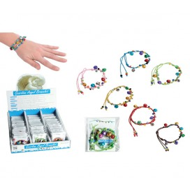 """Bracelet tissu perle """"Ange gardien"""""""
