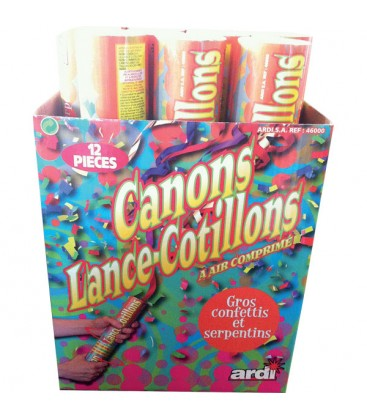 12 Canons lance-cotillons