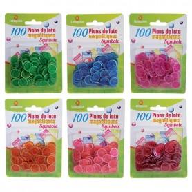 24 blisters100 pions loto magn. Symboles