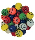 90 balles loto multicolores thermoplastiques Ø 38mm