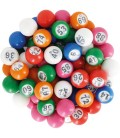 90 boules loto multicolores Ø 18 mm