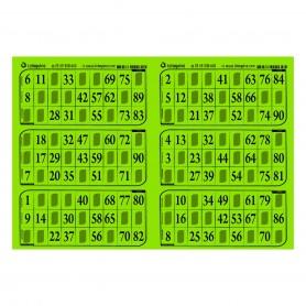 166 plaques de 6 grilles feuille vert menthe - série 104