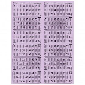 83 plaques de 12 grilles feuille lilas - série 101