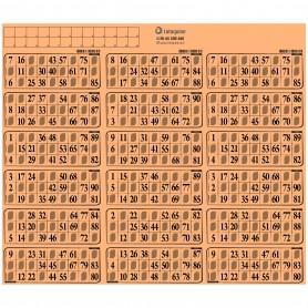 55 plaques de 18 grilles très épais à tamponner orange - série 29