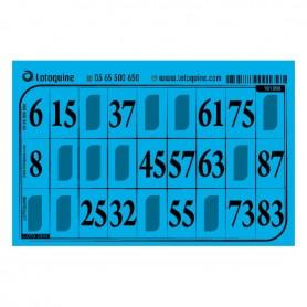 1000 cartons feuille turquoise - série 47