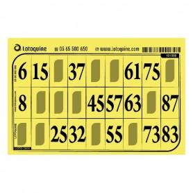 125 cartons souple jaune - série 118